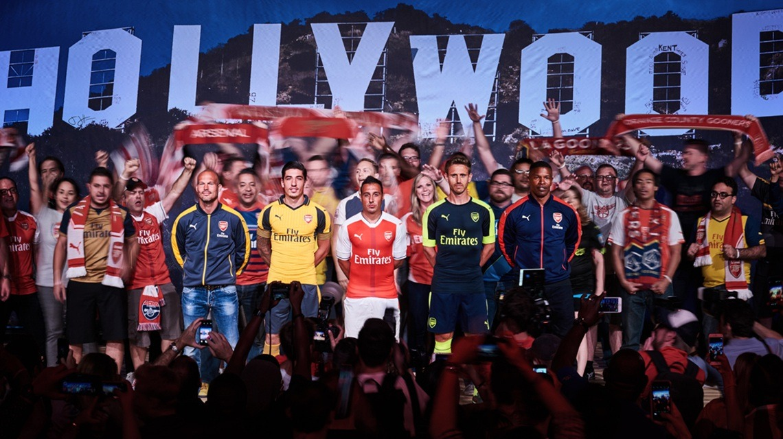 c5c8e910a Arsenal Kit Reveal - Hollywood Style - PUMA CATch up
