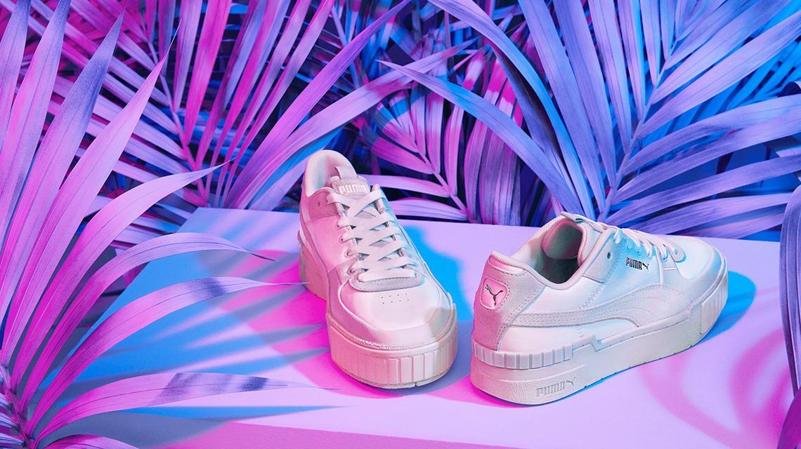 Puma Textured White Platform Sneaker